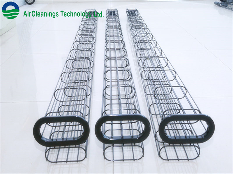 Fabric filter cage